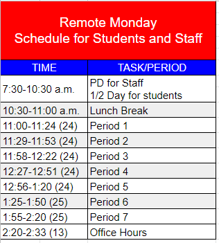 PHS Remote Monday