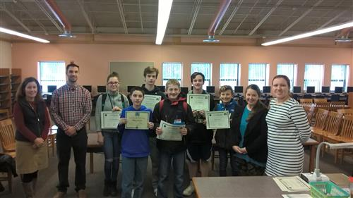 2018 geo bee finalists at PCMS