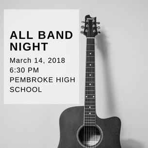 All Band Night is March 14, 2018