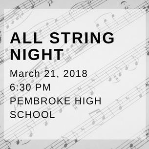 All String Night is March 21, 2018
