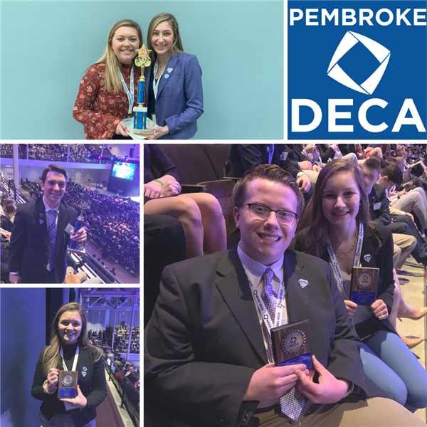 Picture of student DECA winners