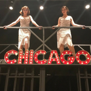 Students in the play Chicago