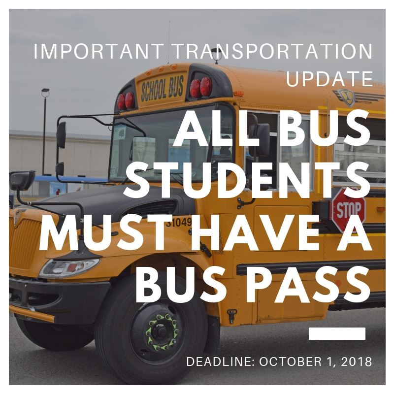 Bus Pass Required- Picture of a Bus