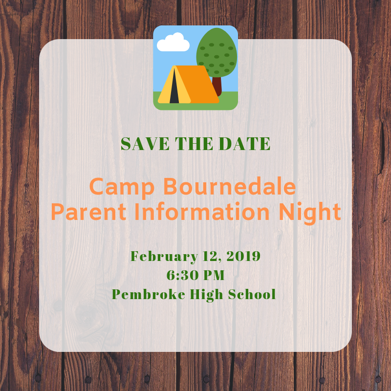 Camp Bournedale Parent Information Night