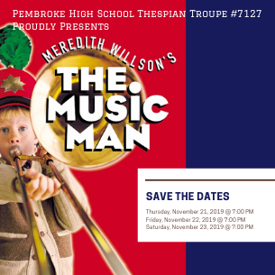 Flyer for the Music Man Show
