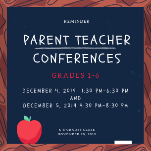 Grades 1-6 Parent Teacher Conferences