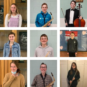 Student Musicians Accepted to 2021 SEMSBA Music Festival!