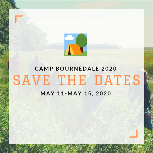 Camp Bournedale Save the Dates