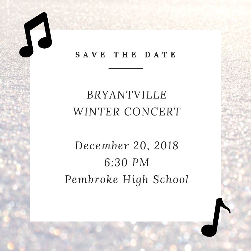 Bryantville Winter Concert is December 20
