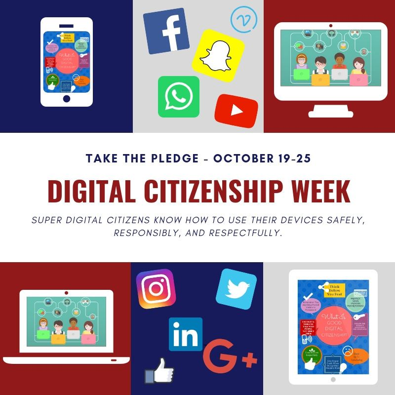 Digital Citizenship Week Info Graphic